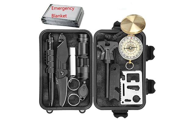 CHANGKU EILIKS 11 in 1 Emergency Survival Kits (Outdoor Survival Gears: Top 10 Gears of 2020)