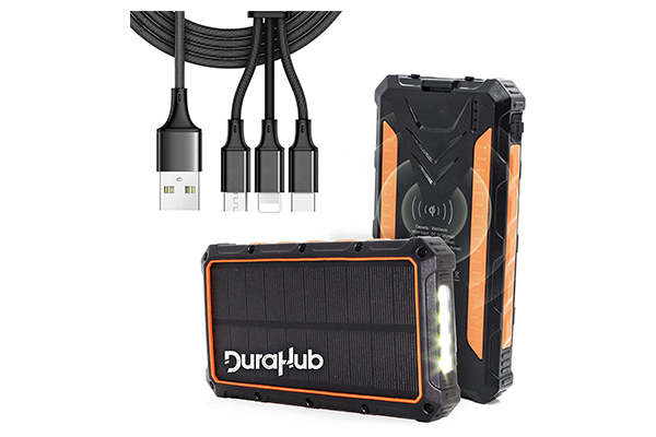 DuraHub Solar Power Bank  of outdoor survival gears