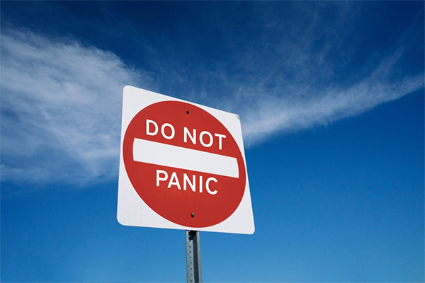 The last thing you want to do is PANIC!  (How to Survive an Apocalypse)