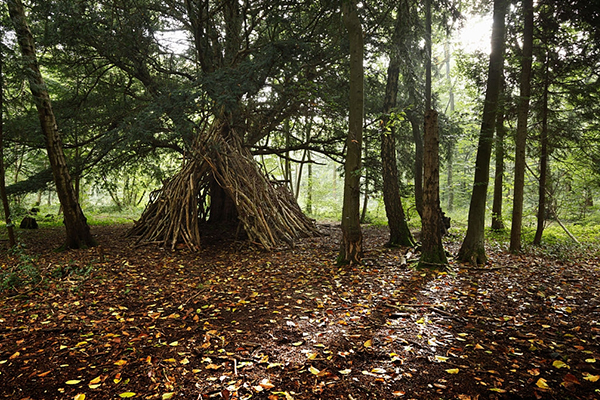 Tipi Shelter with Debris and Branches (Survival Shelter Ideas: All You Need To Know)
