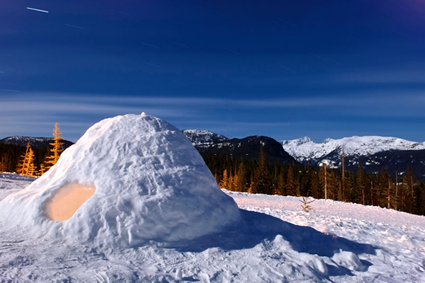 Snow or Igloo Shelter  (Survival Shelter Ideas: All You Need To Know)